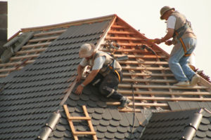 Two Roofers Repair Shingle roof